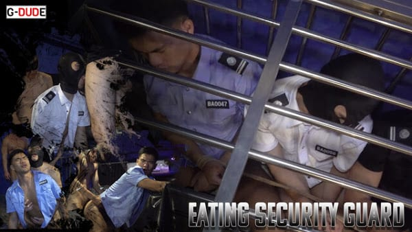 Eating Security Guard
